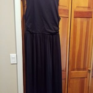 Lands end maxi petite large black